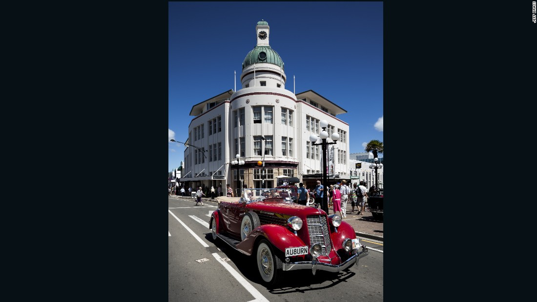 Napier's iconic domed T&G Building in the city's center was completed in 1935 and is based on the 'stripped classical' style of architecture.