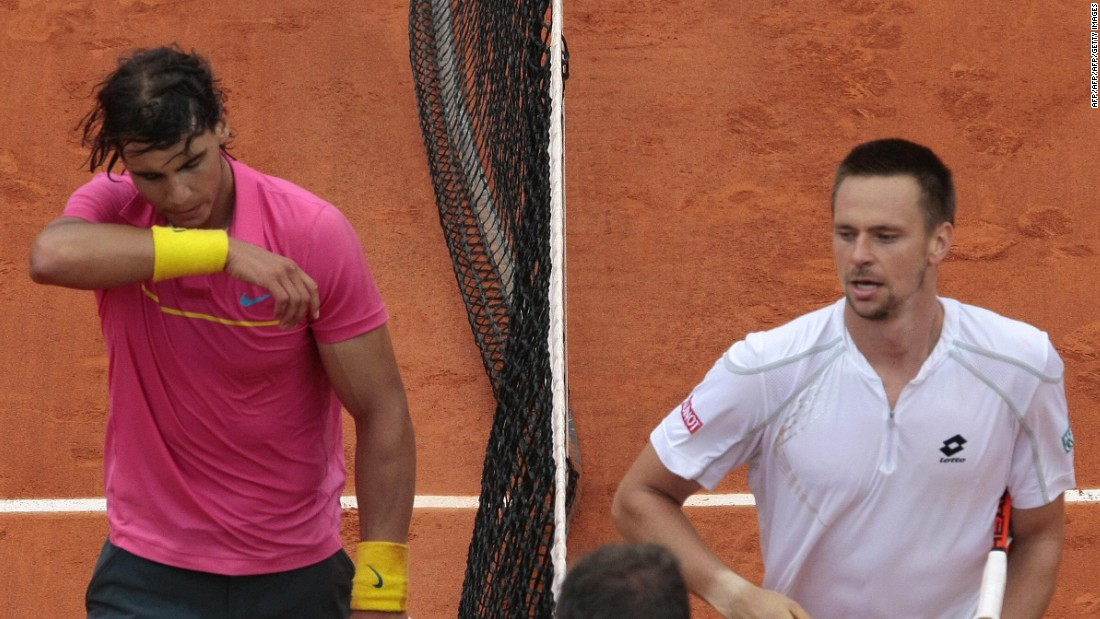 Robin Soderling is the other player who has downed Nadal at the French Open, in 2009.