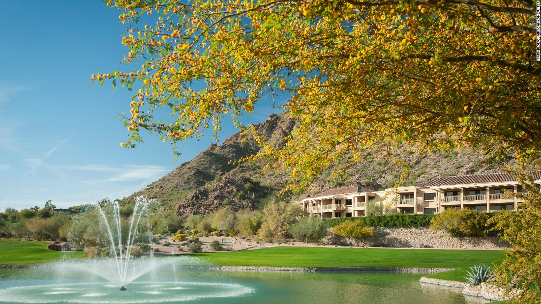 Canyon Suites in Scottsdale, Arizona, is located within the Phoenician resort.