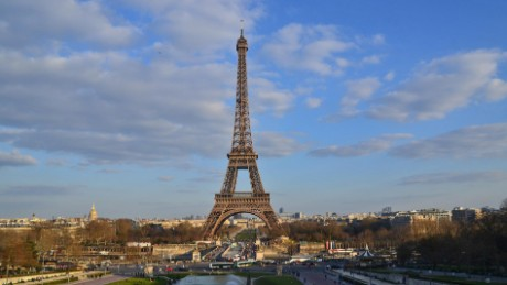 Towering defeat: The Eiffel failed to crack the top 10 on TripAdvisor's most beloved landmarks list.