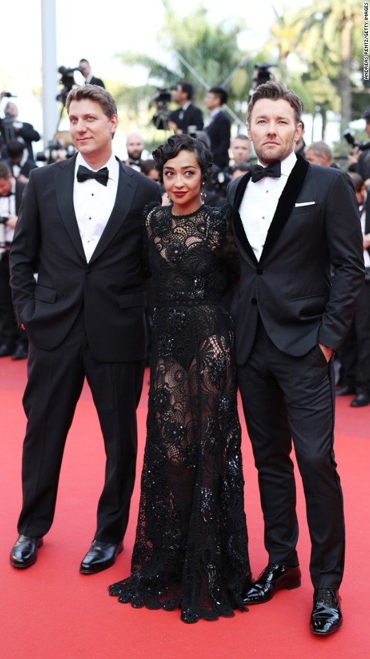 From left, Jeff Nichols, Ruth Negga and Joel Edgerton