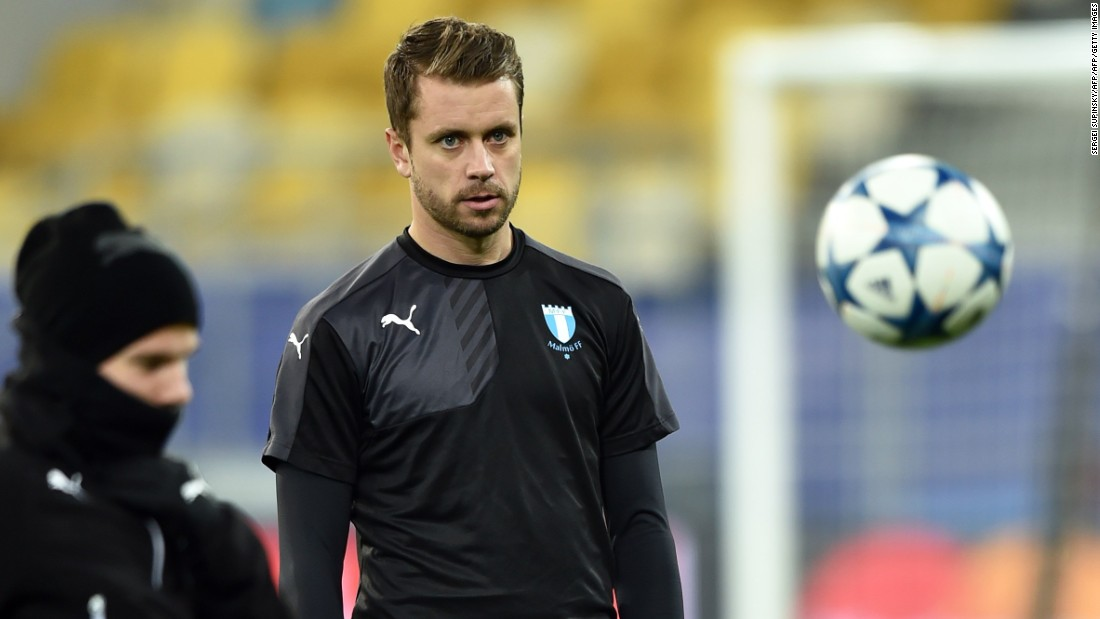 Iceland's center back Kari Arnason, who plays for Malmo in the Swedish league, says becoming a professional footballer was never a realistic dream for him growing up.