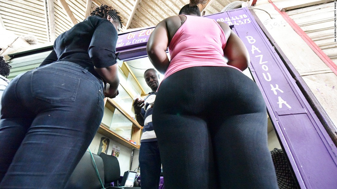 "Women buy bottom enhancer products in a market of Treichville suburb of Abidjan, Ivory Coast, where ""big is beautiful"" bottom enhancers come in all shapes and sorts, and at any cost."