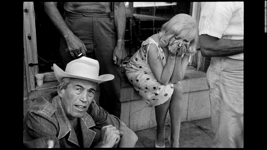"Director John Huston and actress Marilyn Monroe are seen on the set of ""The Misfits"" in 1960. The photo was taken by Bruce Davidson and is part of the new book ""Bruce Davidson: An Illustrated Biography."""