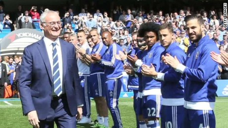 Leicester City celebrates Premier League title win
