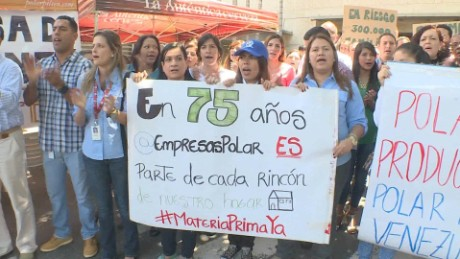 cnnee pkg osmary hernandez empresas polar trabajadores protesta_00010124