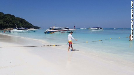 Tourist boats are blamed for leaching gasoline into the island's waters.