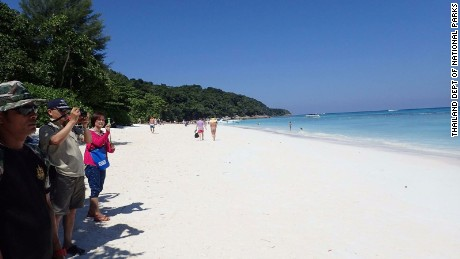 Koh Tachai can only accommodate a few hundred visitors a day, but some days there are 2,000.