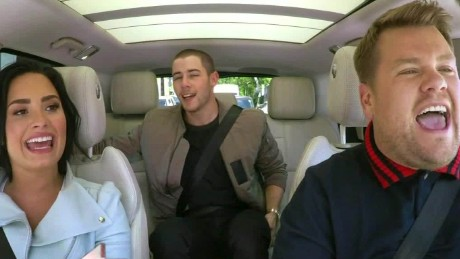 demi lovato nick jonas carpool karaoke daily hit newday_00010205