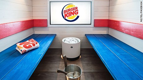 A Burger King spa and sauna has opened in Helsinki, Finland