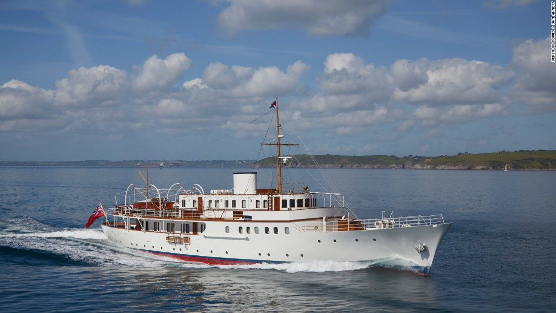 "This 50.3m motor yacht from the 1930s was once owned by film producer Sam Spiegel and used as his production office and hotel while filming ""Lawrence of Arabia"" in Jordan. She was rendered almost unrecognizable by a 1980s refit, but her current owner restored her classic lines in a two-year restoration at UK-based Pendennis."