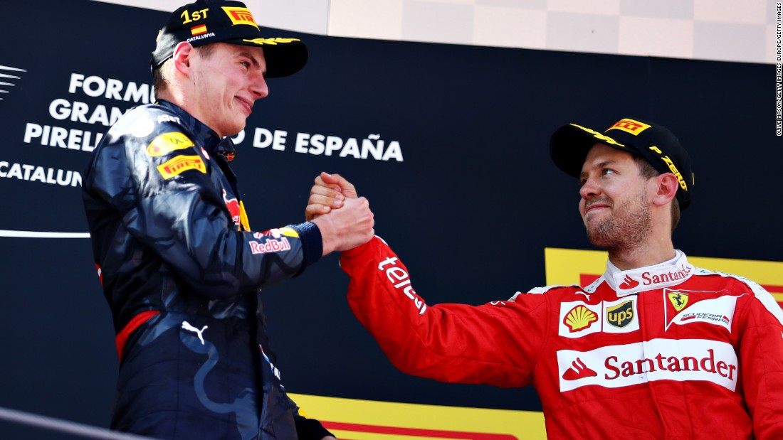 The 18-year-old eclipsed Sebastian Vettel, who finished third in Spain, as the youngest-ever driver to win an F1 race.