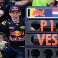 max verstappen P1 in Spain celebrations