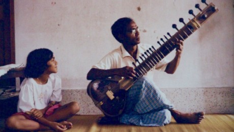 Rizwana Hasin with her late father, Rezaul Karim Siddique.