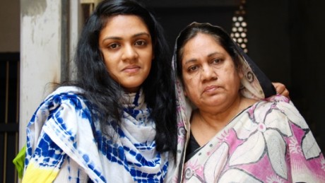 Widow, Hosne Ara Sheera, and daughter, Rizwana Hasin.