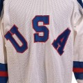 Jim Craig 1980 Team USA uniform from the Soviet game
