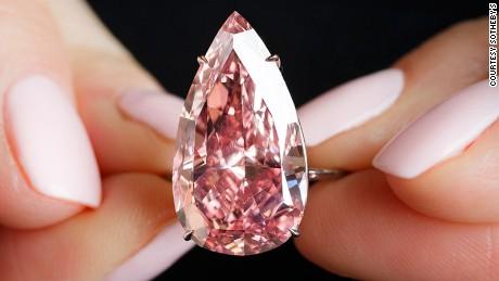 Rare $31.6 million 'Unique Pink' diamond sets new auction record