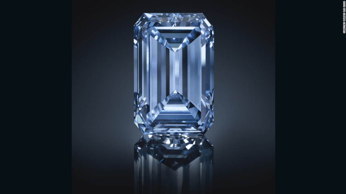 "The world's largest blue diamond, an extremely rare gem known as ""The Oppenheimer Blue"", sold for $57.5 million at Christie's Geneva May 18, 2016, making it the most expensive diamond ever sold at auction."
