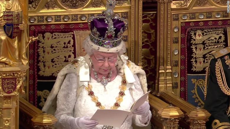 What was Queen's Speech missing? Donald Trump