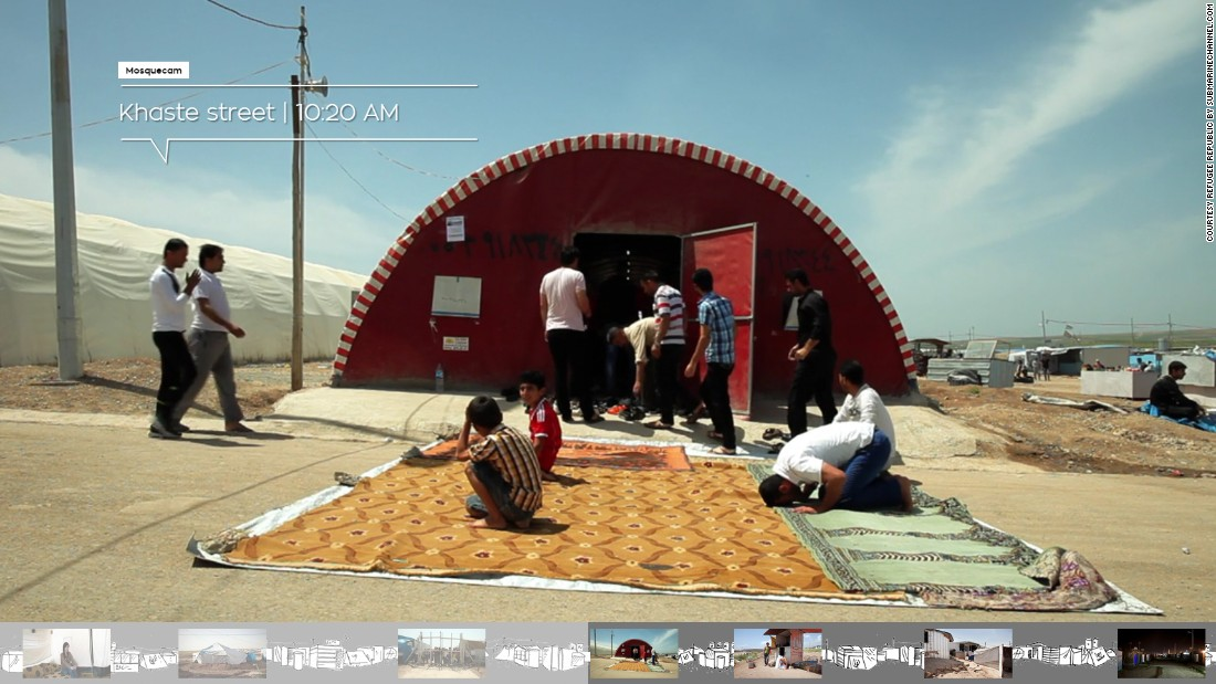 The website takes you into the world behind the relief organization posters. The makers went to Camp Domiz in northern Iraq, where around 64 thousand predominantly Kurdish Syrian refugees have sought shelter.