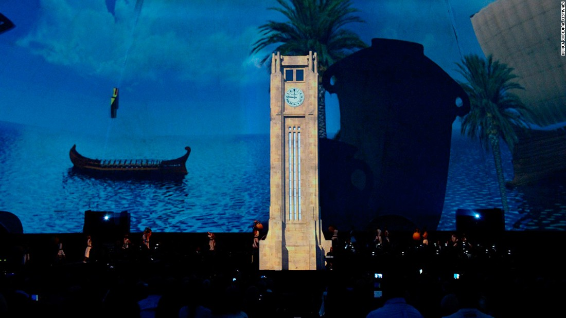Beirut's fate at the hands of Phoenician, Roman, Ottoman and French invaders and colonists are explored in the show using dramatic 360-degree light projections.