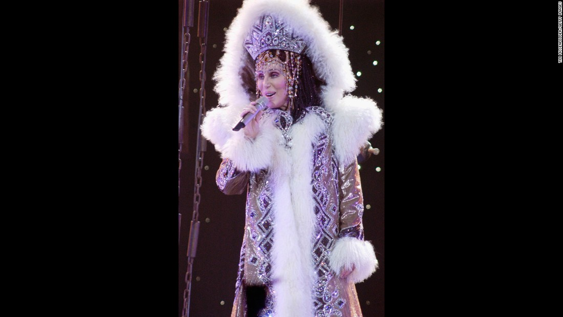 "Cher performs in 2005 during ""Living Proof: The Farewell Tour."""