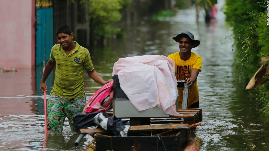 Over 340,000 people have been forced to flee their homes, the Disaster Management Center said. About 200,000 people are currently being housed in hundreds of welfare centers across the country.
