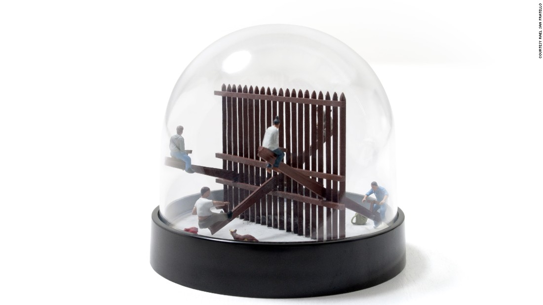 The <em>Snow Globes</em> series is a collection of souvenirs memorializing some of the most remarkable border wall conditions.