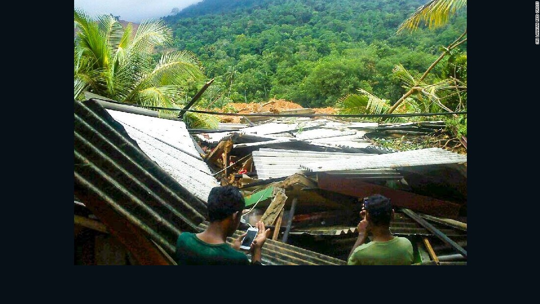 Sri Lanka's Red Cross said over 200 families were initially missing in the landslide but rescue teams had managed to save over 180 individuals.