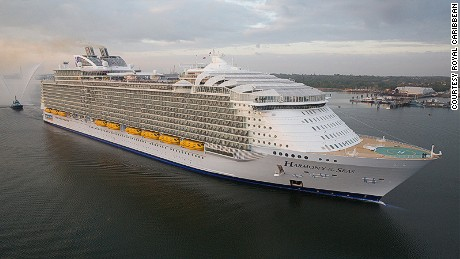 Harmony of the Seas is the latest cruise ship to be crowned the world's biggest.