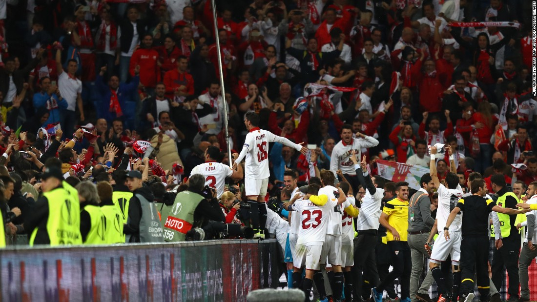 The Spanish club has now won a record three straight Europa League finals.