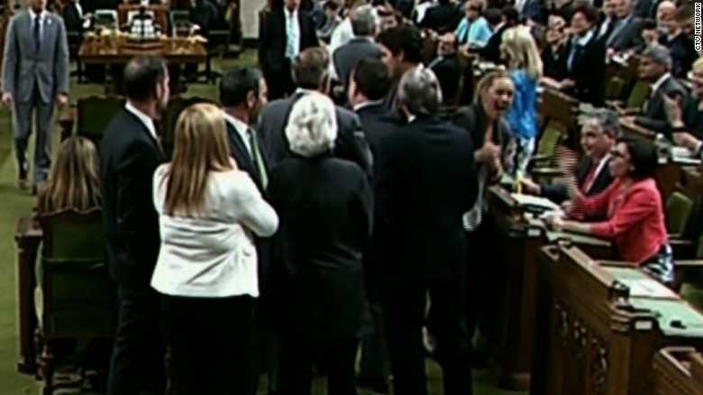 Opposition: Canadian PM 'elbowed' female lawmaker
