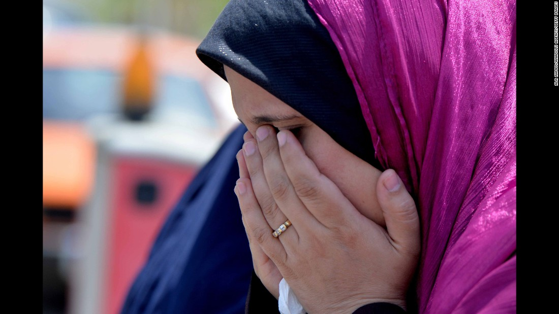 A relative of a passenger who was on the jet waits for news at Cairo International Airport on May 19.