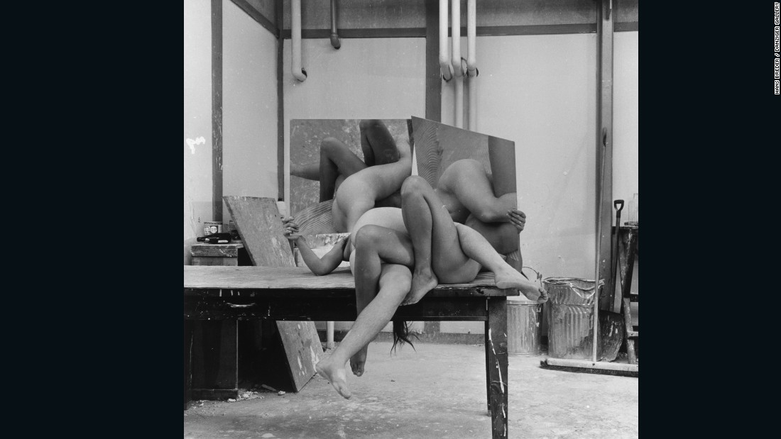 """Hans Breder is much better known as a sculptor. These photos have sat around in a studio and the gallery is exposing them for the first time. They've had a very big response to them. I'm fascinated by the sculptural quality and also by the fact that they have laid around for so long without anyone noticing them."""