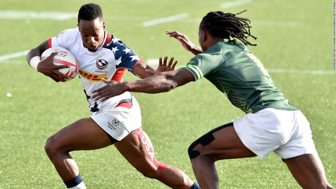 Despite the emergence of South African speedster Seabelo Senatla (right), Isles is confident he is still rugby's fastest man.