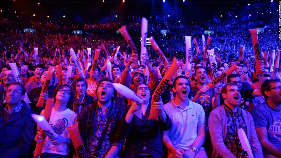 Tickets often sell out in a matter of minutes for eSport events. The chants of the gathered crowds are not dissimilar to those heard in football stadiums.