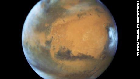 This image shows Mars just before it made its closest approach to Earth in 11 years in May 2016.