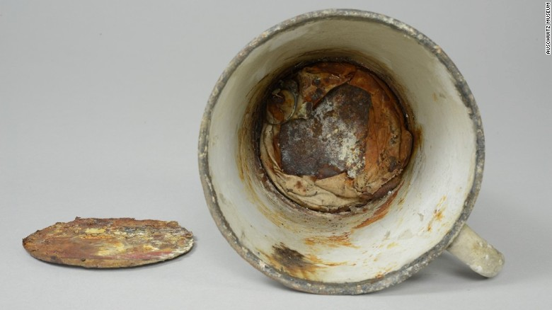 Treasures found in Auschwitz mug