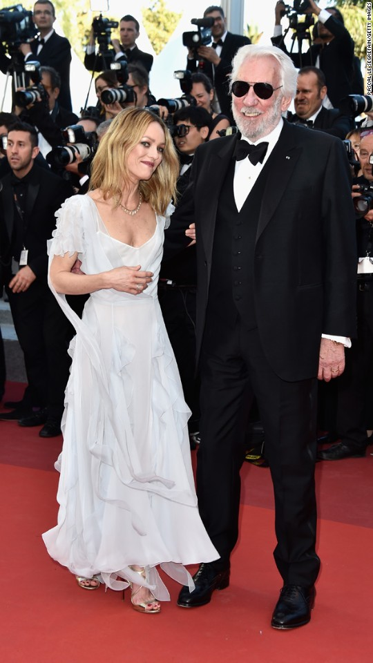 Vanessa Paradis and Donald Sutherland