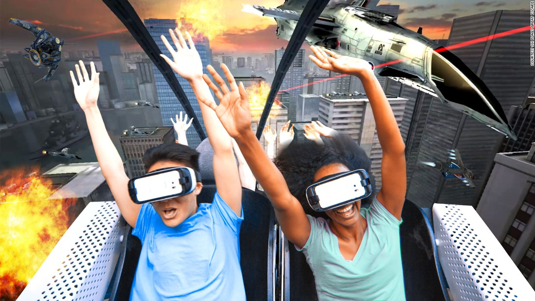 "Riders get to engage in a battle to save the planet from alien invaders as the <a href=""https://www.sixflags.com/greatescape/attractions/vr/experience"" target=""_blank"">Steamin' Demon </a>coaster adds virtual reality at Six Flags Great Escape in upstate New York."