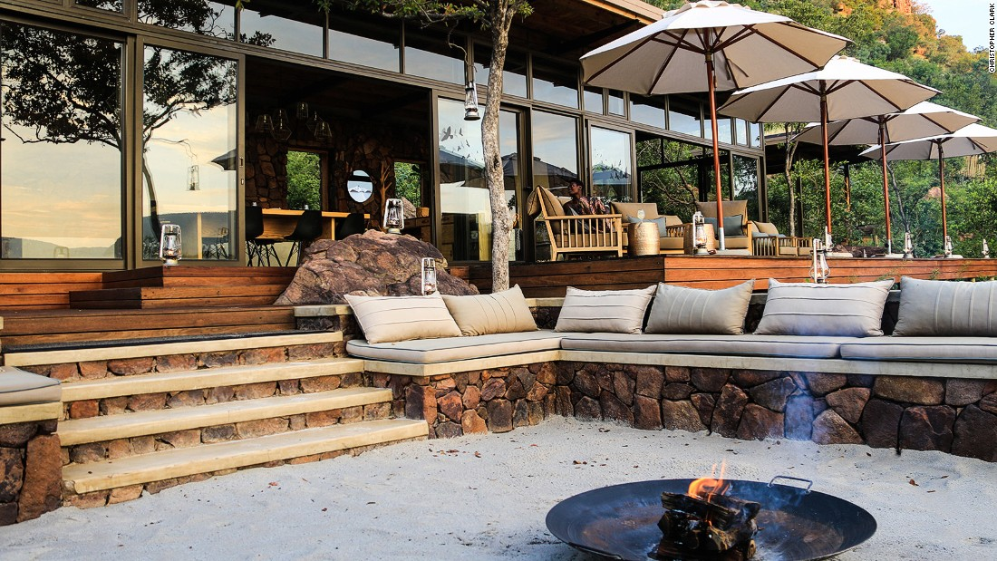 "The newly opened <a href=""http://www.more.co.za/hotels-and-lodges/marataba-trails-lodge/"" target=""_blank"">Marataba Trails Lodge</a> is perched on a hillside with jaw-dropping views across the dramatic sandstone peaks and gorges of the Marataba reserve."