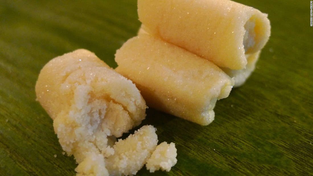 Made from fresh carabao milk and sugar, this sweet confection is stirred until thick and melts in the mouth.