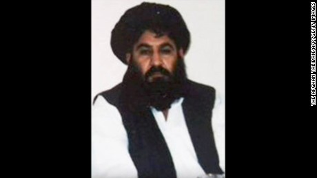 (FILES) This file photo taken on June 01, 2014 shows a handout photograph released by The Afghan Taliban on December 3, 2015, which was taken on a mobile phone in mid-2014 and is said to show Afghan Taliban leader Mullah Akhtar Mansour posing for a photograph at an undisclosed location in Afghanistan.