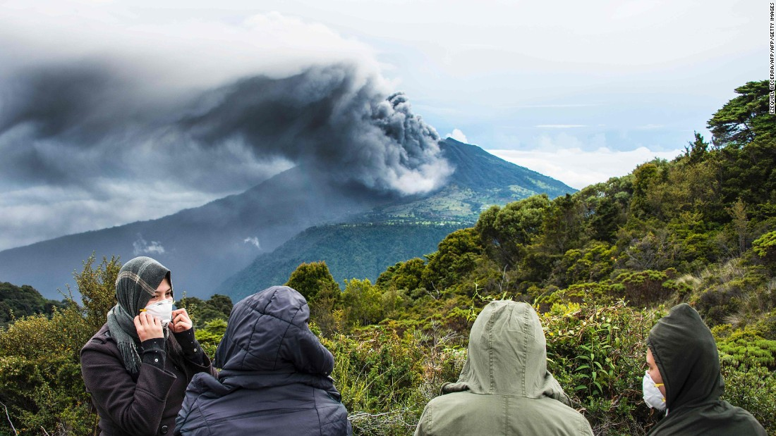 The Turrialba volcano spews smoke and ash on Friday, May 20, in Cartago, Costa Rica. Experts say it is the strongest eruption from the volcano in the past six years.