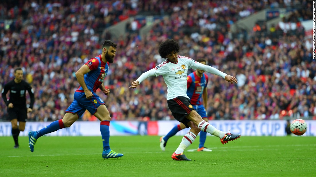 Marouane Fellaini came close to breaking the deadlock for United early in the second half. But the Belgian international's strike rebounded off the post.