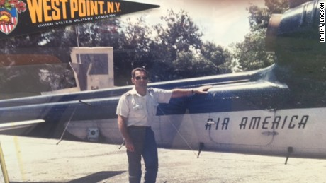 Air America helicopter pilot Robert Caron
