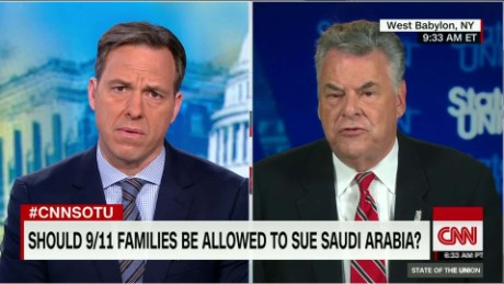 King on Saudis & 9/11: 'If there's no responsibility, they have nothing to worry about'