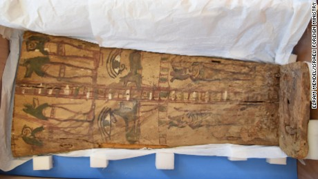 The Israel Antiquities Authority kept the sarcophagus covers in climate-controlled storage.