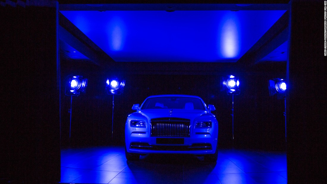 Every Rolls-Royce client has the option of having their finished model revealed in a theatrical ceremony, complete with lights, music, and a rotating platform.