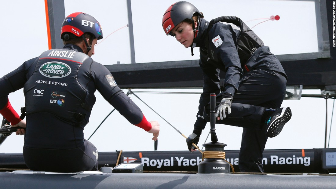 "Middleton has since been a high-profile patron of Ainslie's sailing team.<br />""You can tell she has done a lot of sailing, she was a natural on board,"" said Ainslie of the Duchess."